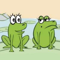 fabula de la dos ranas en pantanos