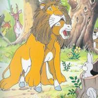 fabula del asno vestido con la piel de leon