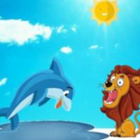 Fabula y moraleja del leon y el delfin