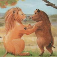fabula del leon y el jabali moraleja