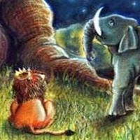 el elefante, prometo y leon