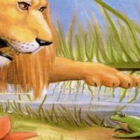 fabaula del leon y la rana gritona