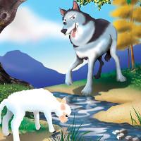 cuento del lobo y cordero en el rio